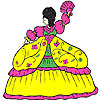 игра Пушистые платье девушка окраски