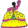 игра Fluffy dress girl coloring