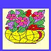 игра Цветы в вазе окраску