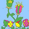 игра Цветы в фермы окраски