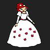 игра Цветочница невеста раскраски