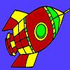 игра Летающие пространства ракета окраску