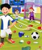 игра Футбольное поле очистка