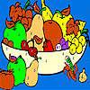 игра Свежие фрукты в корзинка окраску