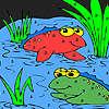 игра Лягушка друзей в озеро окраску
