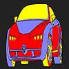 игра Смешные горячий автомобиль раскраски