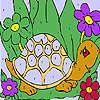 игра Смешные черепаха раскраски