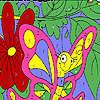 игра Смешные розовая бабочка окраску