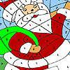 игра Забавные Санта-раскраска