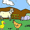 игра Смешные животные раскраски
