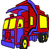 игра Garbage truck coloring