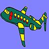 игра Зеленый пролетел самолет раскраски