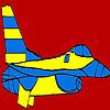 игра Большой синий самолет раскраски