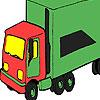 игра Зеленый большой грузовик окраску