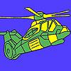 игра Тяжелый военный вертолет окраски