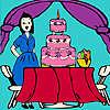игра Дженни на дне рождения раскраски