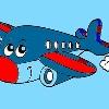 игра Дети раскраски самолетов