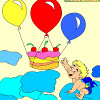 игра Дети раскраски с днем рождения