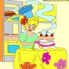 игра Дети раскраски удивительный торт