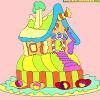 игра Дети раскраски Пряничный домик