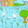 игра Маленькая ферма и окраска уток