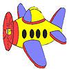 игра Маленький самолет раскраски