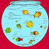 игра Рыбки в аквариуме окраска