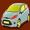 игра Little bright green car coloring