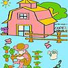 игра Маленький мальчик в сад раскраски