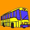 игра Длинная улица автобус окраску
