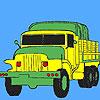 игра Военные грузовики зеленой окраски