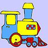 игра Мини-зеленый поезд окраски
