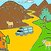 игра Mountain and cows coloring