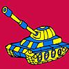 игра Modern military tank car coloring