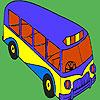игра Modern school bus coloring