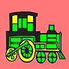 игра Modern locomotive car coloring