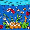 игра Океан и красочные рыбы колорит