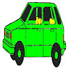 игра Old green car coloring