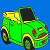 игра Откройте спортивный автомобиль раскраски