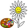 игра Краска мне цветок