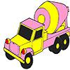 игра Розовая окраска бетонных грузовиков