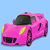 игра Pink gorgeous car coloring