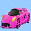игра Великолепный розовый автомобиль раскраски