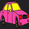 игра Раскраска Розовый город такси