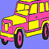 игра Pink mountain jeep coloring