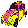 игра Pink turtle car coloring