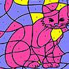 игра Розовый дом Кошка раскраски
