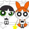игра PowerPuff девочек раскраски