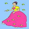 игра Красивая девушка цветник окраски