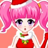 игра Красивая девушка довольно Рождество